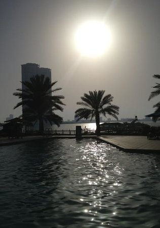 Hilton Ras Al Khaimah Resort & Spa: the view from the pool