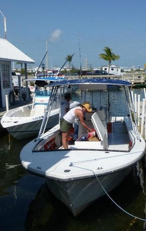 6 Pack Charters: Billy's boat docked