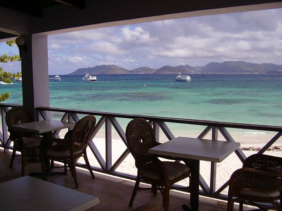 The Ferryboat Inn: View from the bar across to St. Martin.