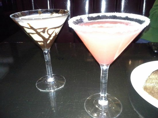 T Bonz Steakhouse of Augusta: Chocolate Martini, Ruby Red Martini