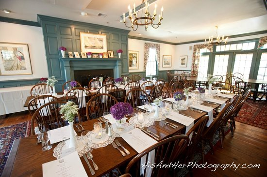 small wedding reception in the picture of osprey point restaurant
