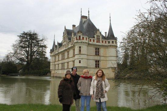 Chateau of Azay-le-Rideau: Flotando en el agua
