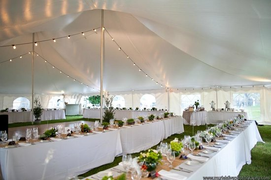 Tented Wedding Reception Picture Of Osprey Point Restaurant Rock