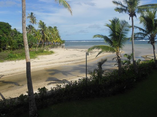 Outrigger Fiji Beach Resort: our view from our balcony