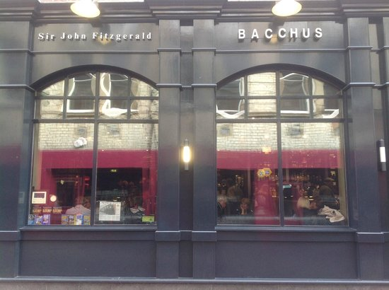 The Bacchus: Frontage of premises