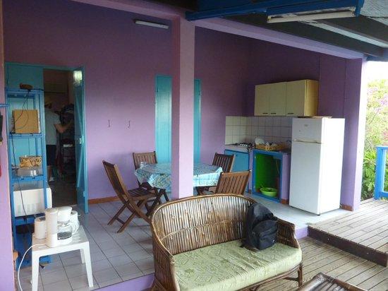 Coeur Caraibes: salle a manger, cuisine