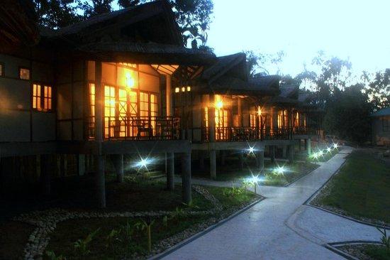 Infinity Resort Kaziranga: cottage view - night