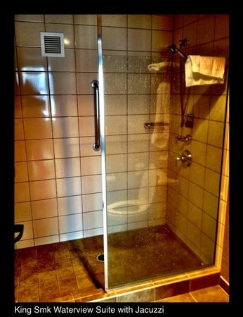 Clearwater Casino Resort: Shower in the bathroom - Room 425
