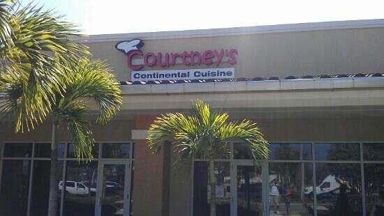 Courtney's Continental Cuisine: Outside of Courtney's