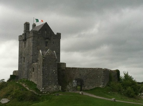 Dunguaire Castle's Medieval Banquet: View of the Dunguaire Castle on the North Atlantic Bay