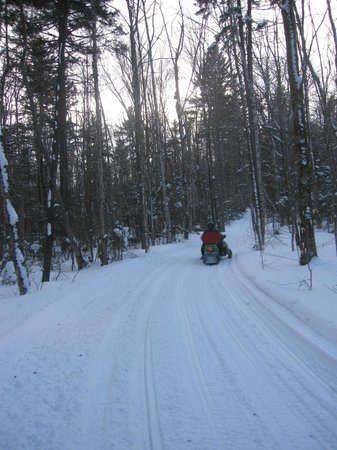 The Mountain Top Inn & Resort: Snowmobiling.