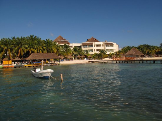 Isla Mujeres Palace viewed from the ocean.
