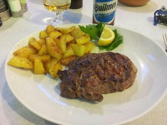 El Gaucho: entrecote di manzo con patate al forno
