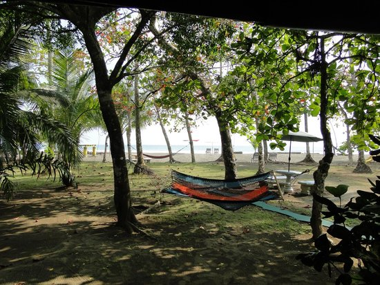Rafiki Beach Camp: View from our porch of the tent