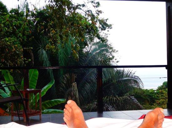 TikiVillas Rainforest Lodge & Spa: Blick aus dem Bungalow