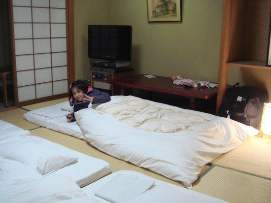 Karasuma Kyoto Hotel: les futons