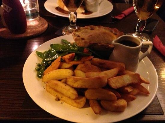 The Peacock Bakewell: beef and ale pie