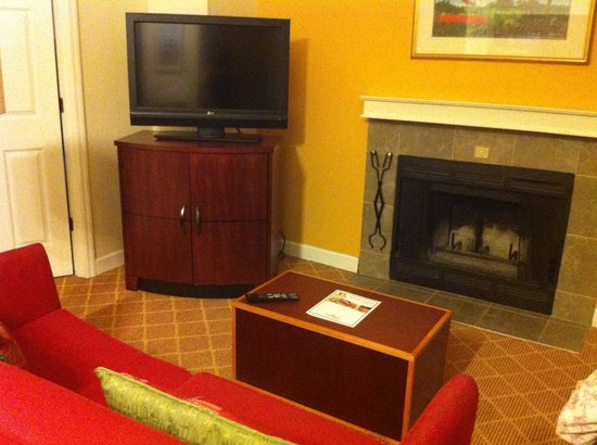 Hawthorn Suites by Wyndham North Charleston SC: Cozy fireplace