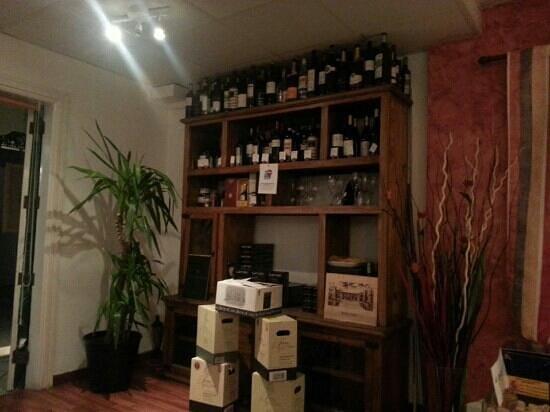 N'Enoteca: wine rack.