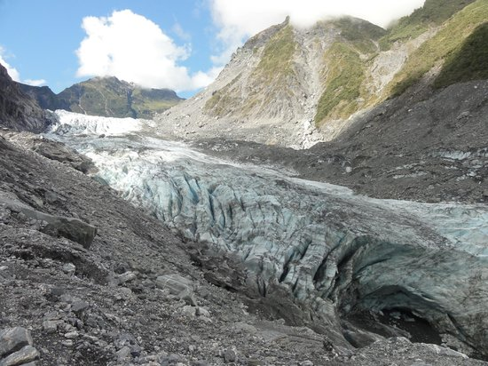 Fox Glacier, Nieuw-Zeeland: This is from the high viewing point.