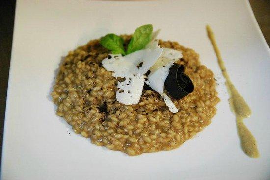 Osteria D'Alberto: risotto, crema di marroni, caffè e cacioricotta