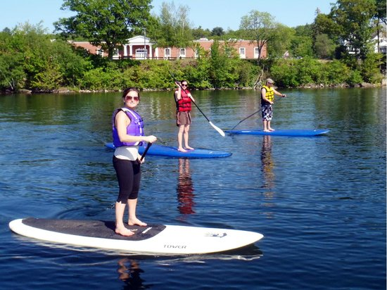 Stand Up Paddleboard NH: Paddle board Lesson in Laconia 2012