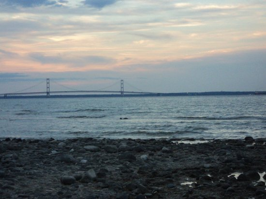 Mackinaw Mill Creek Campground: On the beach off the campsite