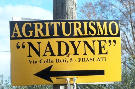 Agriturismo Relais Nadyne: insegna
