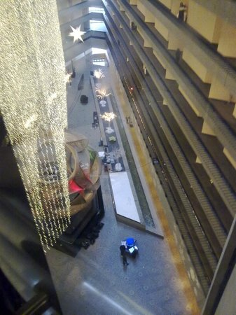 Hyatt Regency San Francisco: View from the internal glass elevators