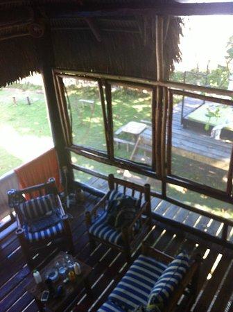 Cabarete Maravilla Eco Lodge & Beach: veiw from Bohio living room space