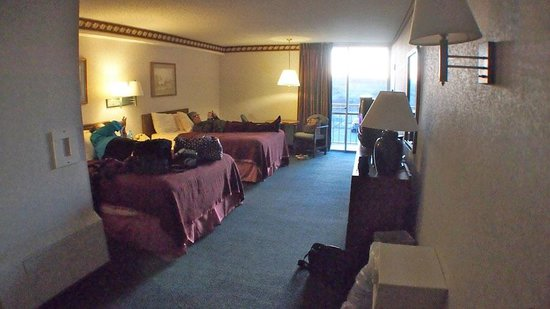 Howard Johnson Inn Lexington: Nice size room.  Very comfortable beds.