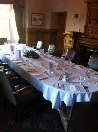 Norton House Hotel & Spa Edinburgh: private dining