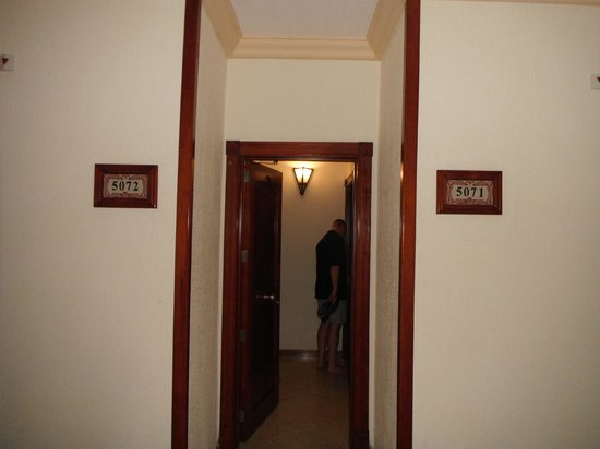 Hotel Riu Vallarta: There is on door in the center that you can close while you are in the room and then the room do