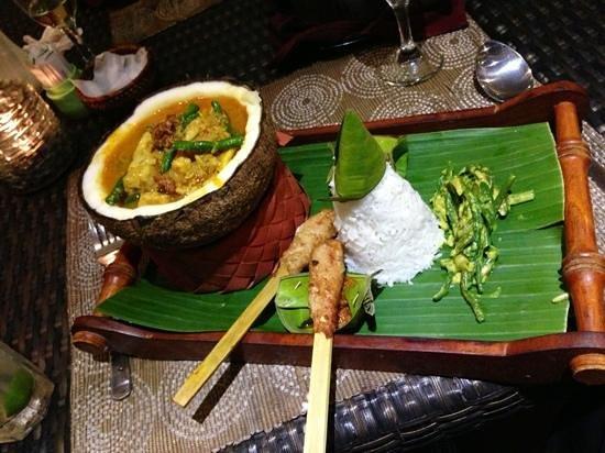 Ratatouille: seafood stew with seafood satay