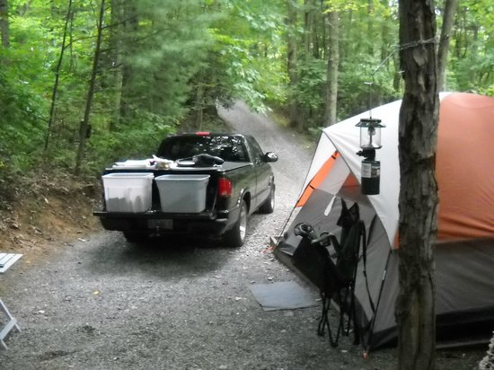 Linville Falls Campground RV Park & Cabins: primitive site 37