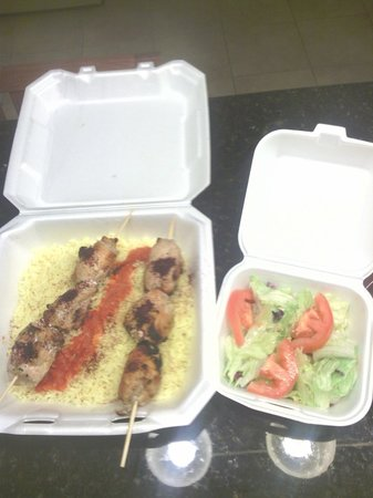 Middle East Restaurant : Grilled chicken with eastern spices