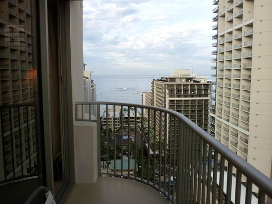 Embassy Suites by Hilton Waikiki Beach Walk: From Balcony- No top coverage