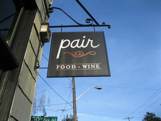 Pair: Restaurant sign