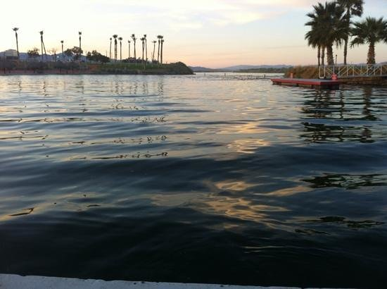 sunset on the Colorado River, view from the Avi Casino beach