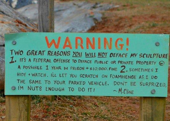 Foamhenge: Artists Warning - funny and creepy