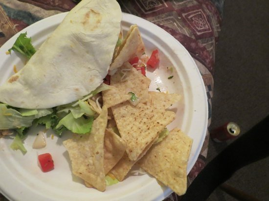 The Silvertip Restaurant: Taco and the diced tomatoes is what they consider salsa..