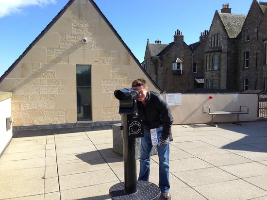 Museum of the University of St Andrews: Talking Telescope on the roof terrace