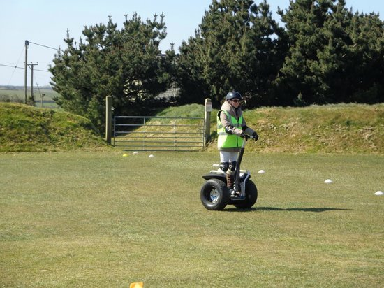 Cornwall Segway: Jessica in action