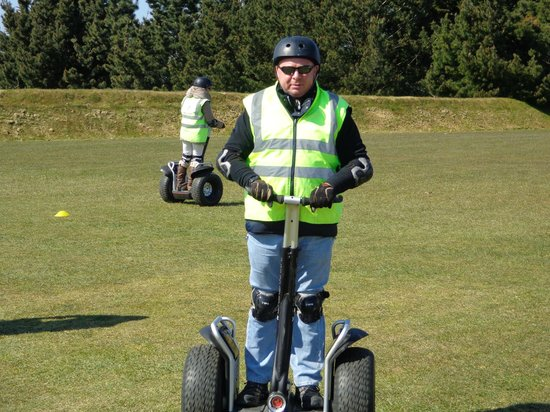 Cornwall Segway: Dad on the segway