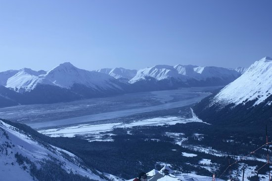 Girdwood Guest House: View of Turnagain Arm from the ski area