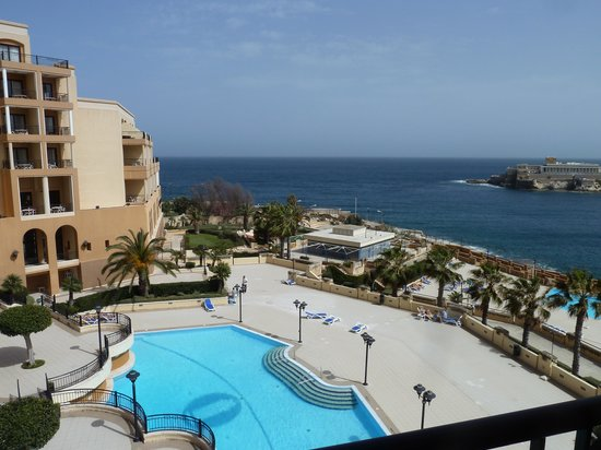 Corinthia Hotel St. George's Bay: View from our balcony