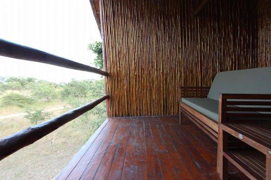 Pezulu Tree House Game Lodge: Terrazza