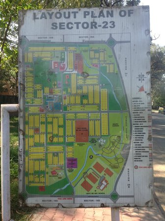 Children Traffic Park: Chandigarh Traffic Park - Map of Sector 23 (the park is in 23A)