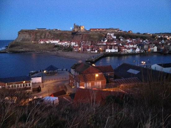 Melrose Guest House: Whitby at night