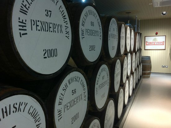Penderyn Distillery: Whisky barrels - empty I'm sure